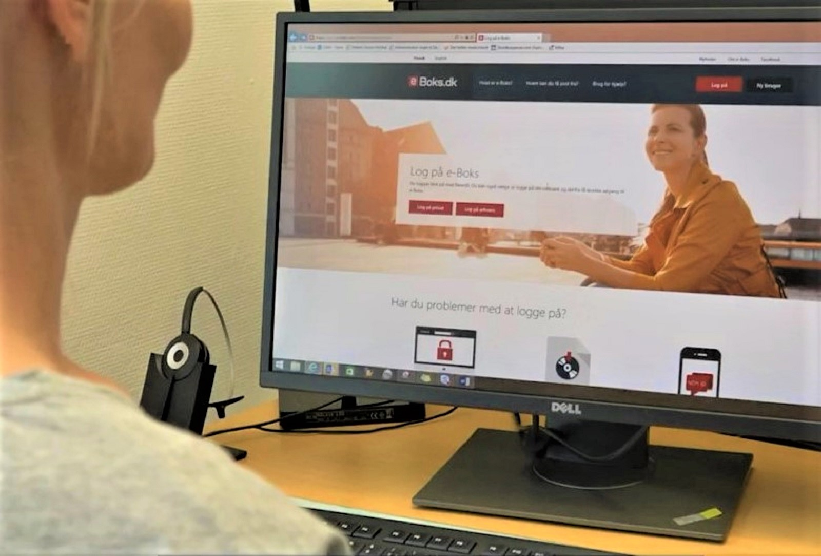 Billede af computerskærm med e-Boks