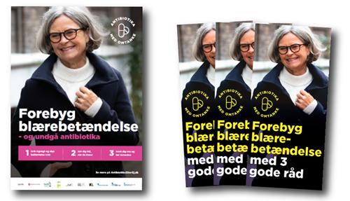Plakaten og brochuren til den nationale antibiotikakampagne 2019