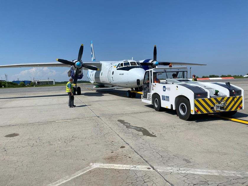 Flyet som Pfizer-vaccinerne fra Rumænien skal transporteres til Danmark i.