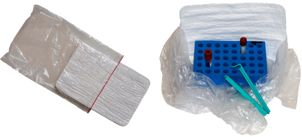 "Sugende materiale, ""ost"" og plasticpose"