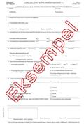 Eksempel på anmeldelsesformular for smitsomme sygdomme (formular 1515)