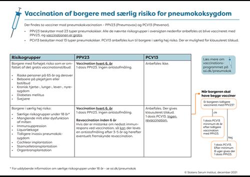 """Billede af infografikken """"Vaccination af borgere med særlig risiko for pneumokoksygdom"""""""