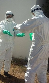 Deltagere i GOARN-uddannelse i udbrudshåndtering. Privat foto.