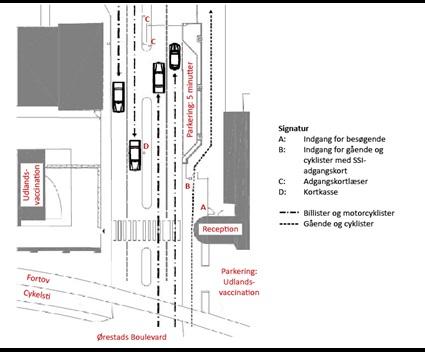 Kort over indgangen til SSI