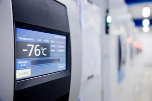 Frysere til opbevaring af vacciner. Temperaturmåler på -76 grader
