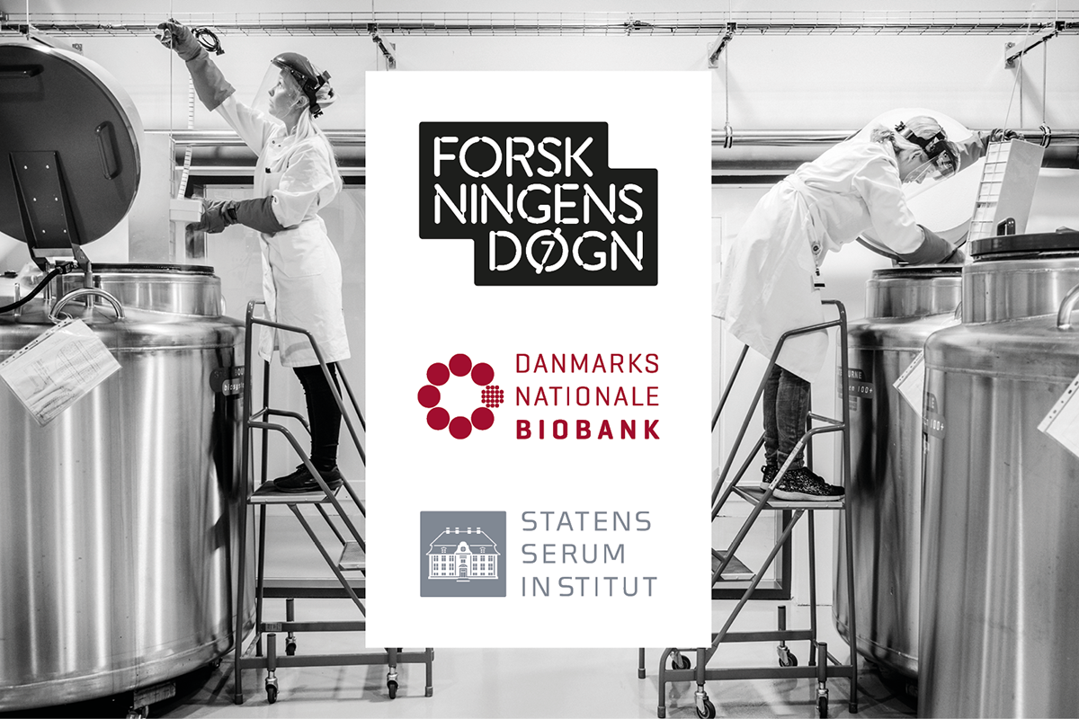 Medarbejdere ved fryser i Danmarks Nationale Biobank