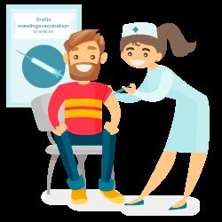 Sygeplejerske vaccinerer mand